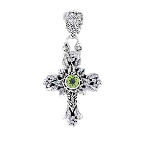 Peridot cross pendant sarda by mozeypictures Gallery